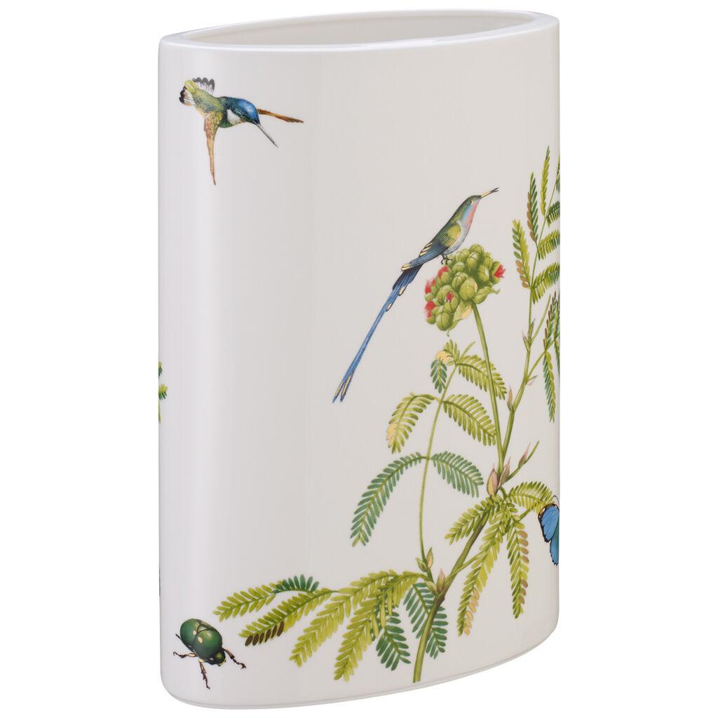 Artikel klicken und genauer betrachten! - Mit dem Dekor Amazonia bereichert Villeroy & Boch die beliebte Kollektion Modern Grace um exotische, leuchtend bunte Regenwaldmotive – ein echter Blickfang für die Tafel. Nicht nur für Orchideen, auch für heimische Blumen eignet sich die schmale Vase, die von Kolibris, exotischen Gräsern und Käfern geziert wird. Werten Sie den Wohnbereich mit hübscher und edler Dekoration auf. | im Online Shop kaufen